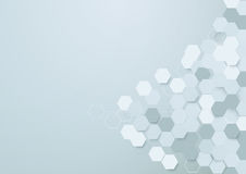 Abstract hexagons background with space for your text Stock Photo