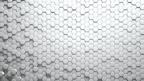 Abstract Hexagons Background. White color 3d rendering Stock Images