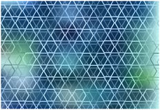 Abstract hexagons grid background. Color abstract blurry background with symmetrical hexagons grid royalty free illustration