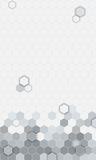 Abstract hexagons pattern background  for mobile UI. Royalty Free Stock Photography