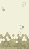 Abstract hexagons pattern background  for mobile UI. Royalty Free Stock Photo
