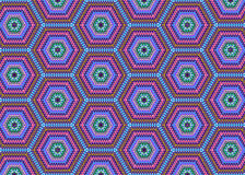 Abstract Hexagons Pattern Fabric Background Stock Photo