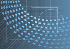 Abstract hi-tech background. In blue grey tones, vector illustration Stock Photo