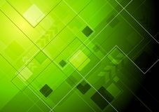Abstract hi-tech background. Green technology background with arrow. Eps 10 vector Royalty Free Stock Photos