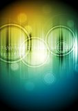 Abstract hi-tech background with circles Stock Images