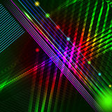 Abstract hi-tech background with glowing lines, neon stripes. Royalty Free Stock Image