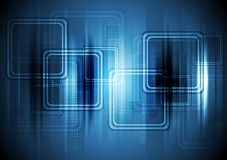 Abstract hi-tech background with squares Royalty Free Stock Photography