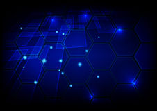 Abstract hi-tech blue background.Technology concept design Royalty Free Stock Images