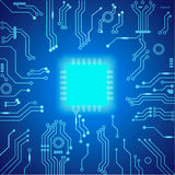 Abstract hi-tech blue background. Vector Royalty Free Stock Image
