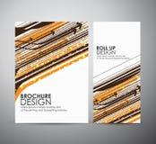 Abstract hi-tech brochure bedrijfsontwerpmalplaatje of broodje omhoog Stock Afbeelding