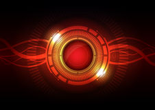 Abstract hi-tech button Royalty Free Stock Photos
