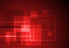 Abstract hi-tech design. Bright red technology background. Vector design eps 10 Royalty Free Stock Image