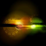 Abstract hi-tech design. Bright abstract vector technology background Stock Photo