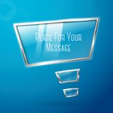 Abstract hi tech glossy glass and metal shiny Royalty Free Stock Images