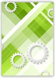 Abstract hi-tech minimal background with gears Royalty Free Stock Photos