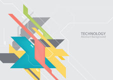 Abstract hi-tech technology background stock illustration