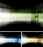 Abstract hi-tech vector backdrops. Dark tech abstract cards. Vector backgrounds eps 10 Royalty Free Stock Photography