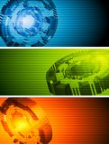 Abstract hi-tech vector banners Royalty Free Stock Photos