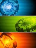 Abstract hi-tech vector banners Royalty Free Stock Photos
