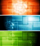 Abstract hi-tech vector banners Royalty Free Stock Photo