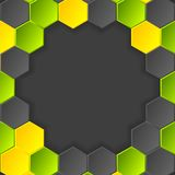Abstract hi-tech vector dark background with Royalty Free Stock Image