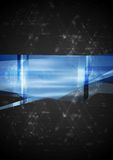 Abstract hi-tech vector illustration. Abstract hi-tech vector blue background Stock Photography