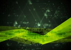 Abstract hi-tech vector illustration. Abstract hi-tech vector green background Stock Images