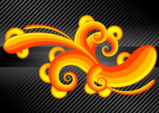 Abstract high contrast. A curly abstract design with high contrast Stock Images