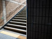 Abstract high contrast metro building background. royalty free stock photography