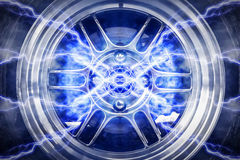 Abstract High Power Wheels Lightning Stock Image