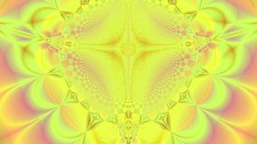 Abstract high resolution fractal video with a detailed organic looking pattern made out of arches and star and a large central sun stock video footage
