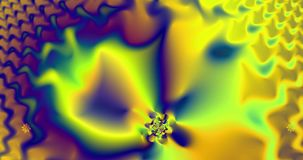 Abstract high resolution fractal video with a hypnotic psychedelic pendulum vector illustration
