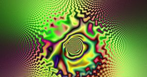 Abstract high resolution fractal video with a psychedelic hypnotic wavy pattern interchanging with a psychedelic pendulum sequence stock footage