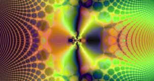 Abstract high resolution fractal video with a psychedelic hypnotic wavy pattern interchanging with a psychedelic pendulum sequence vector illustration