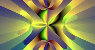 Abstract high resolution fractal video with slowly moving smooth star(flower) like pattern stock footage