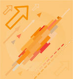 Abstract high-tech background. Orange set. Simply change stock illustration