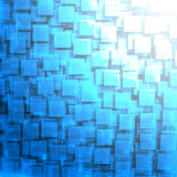 Abstract High-Tech Blue Glass Background. 3d Render Illustration Stock Image
