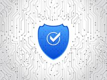 Free Abstract High Tech Circuit Board. Security Shield Concept. Internet Security. Stock Photography - 100257252