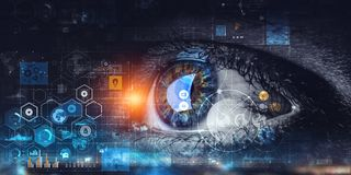 Abstract high tech eye concept royalty free stock image