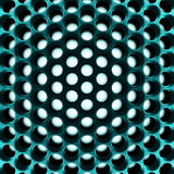 Abstract high-tech honeycomb structure. 3d Royalty Free Stock Photo