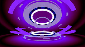 Abstract high-tech wheels, 3d illustration Stock Photo