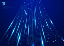 Abstract hight speed movement laser lines pattern and motion blur on dark blue background technology concept. vector illustration
