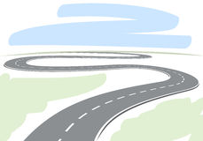 Abstract highway Royalty Free Stock Photos
