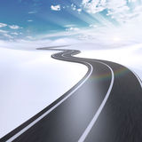 Abstract highway with white copy space. Abstract highway going to horizon with white copy space Stock Photos