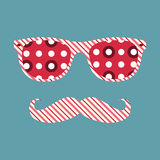 Abstract hipster glasses with mustache Royalty Free Stock Photography