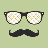 Abstract hipster glasses with mustache Royalty Free Stock Image