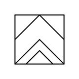 Abstract hipster logo in modern linear style. Royalty Free Stock Photography