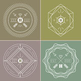 Abstract hipster outline badges set Stock Image