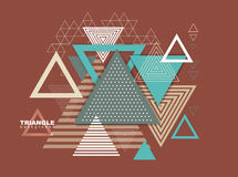 Abstract hipster poligon triangle background Royalty Free Stock Photo