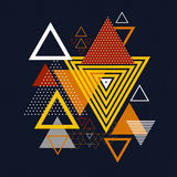 Abstract hipster polygon triangle background. Stock Image
